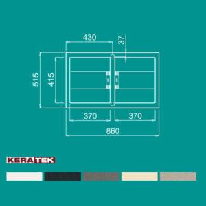 سینک گرانیتی مدل SMART 450 الیچی