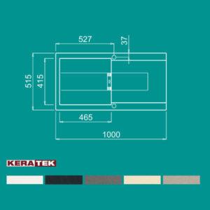 سینک گرانیتی مدل SMART 480 الیچی