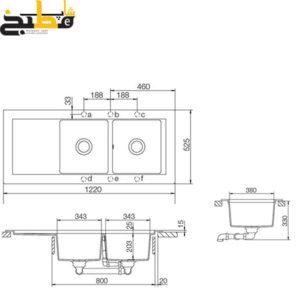 سینک گرانیتی مدل DOMUS D200 شاک