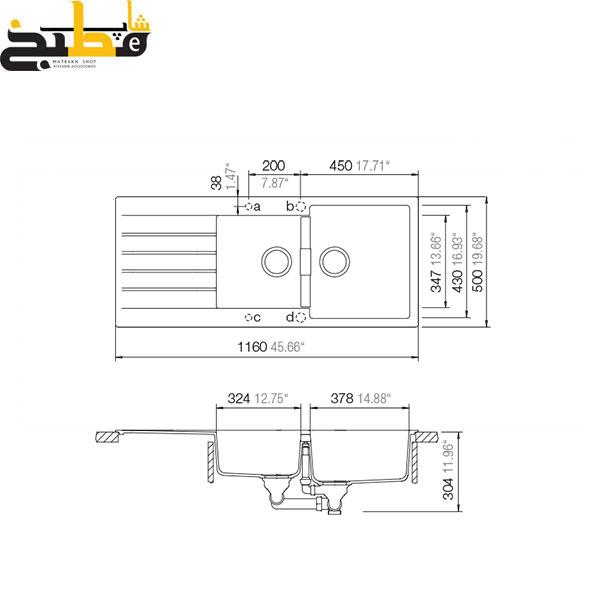 سینک گرانیتی مدل SIGNUS D200 شاک