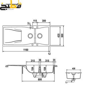 سینک گرانیتی مدل WaterFall D200 شاک