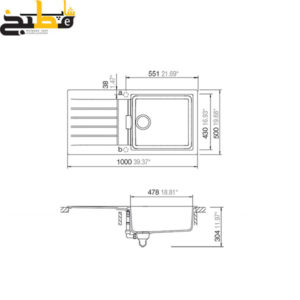 سینک گرانیتی مدل SIGNUS D100 شاک