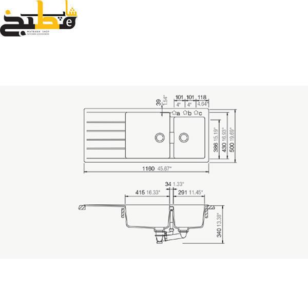 سینک گرانیتی مدل Signus D175 شاک