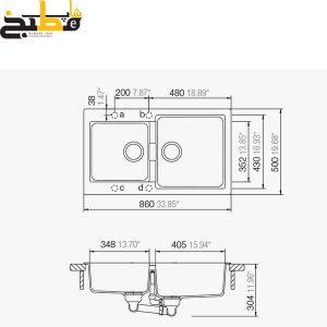 سینک گرانیتی مدل Signus N200 شاک