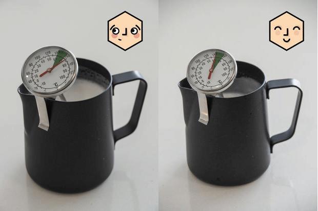 دمای مناسب شیر برای لاته آرت